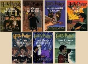 Couvertures des romans Harry Potter